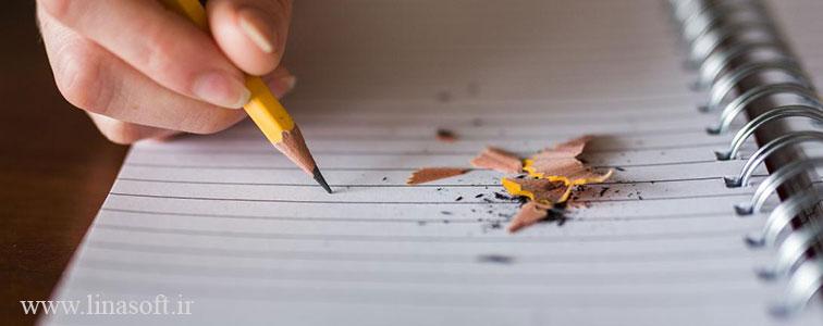 افکت های صوتی نوشتن با مداد و اکشن های آن