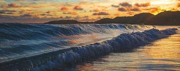 افکت صدای امواج آب و صخره