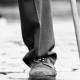 صدای کشیدن پا روی سطح چوبی