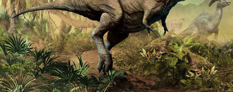صدای راه رفتن دایناسور